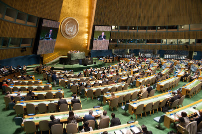 Opening of the World Conference on Indigenous Peoples. Image Courtesy of UN/Cia Pak.