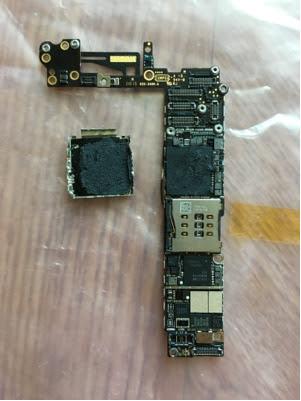 hardware  iPhone 6 Logic Board Water Damage Clean\/Repair  Ask Different