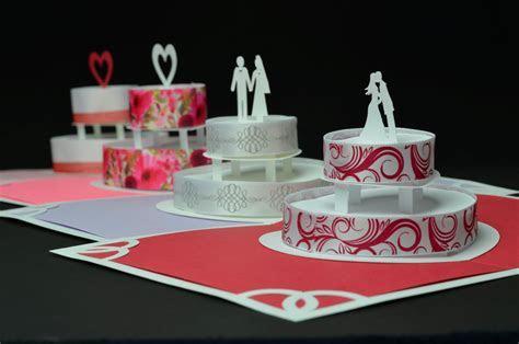 Birthday or Wedding Cake Pop Up Card Template