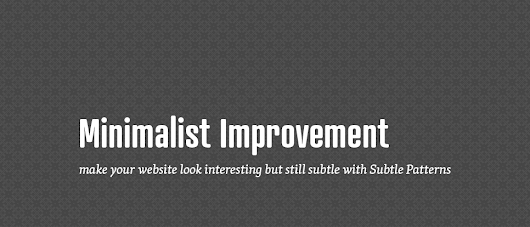 Use subtle patterns for an original look of your website
