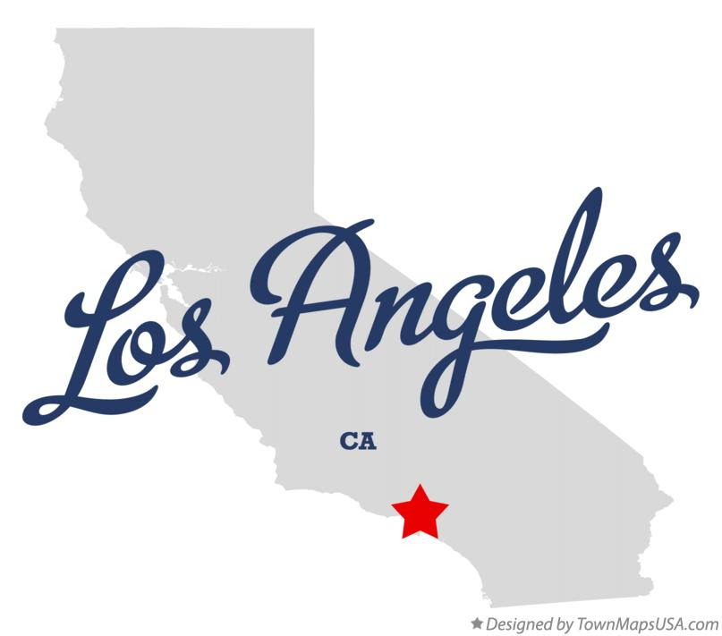 Map of Los Angeles California CA