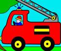 Itfaiye Arabası Boyama şimşek Mekkuin şimşek Mcqueen Oyunları