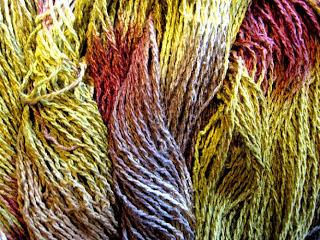 10/2 Silk Noil dyed yarn