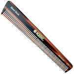 "Kent 4T 6"" 148mm The Hand Made General Grooming Comb Coarse/Fine Hair. Sawcut - 1 Pack"