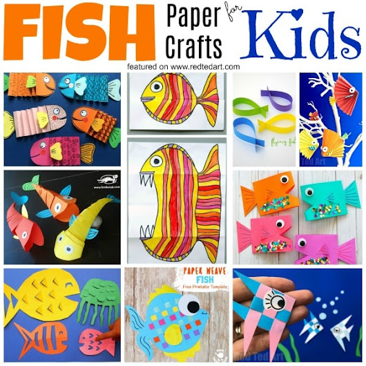 DIY Paper Fish Crafts - Red Ted Art's Blog
