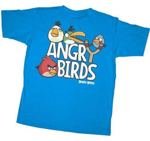 Angry Birds T-Shirt ~ Sling Shot ~ 100% Cotton ~ Boys Shirt