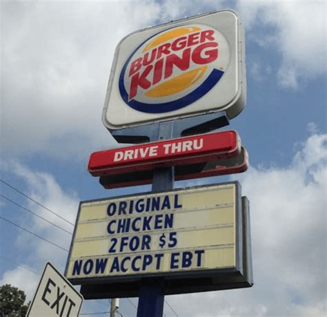 fast food restaurants  accept ebt food stamps food