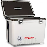 Engel 19 Quart Fishing Live Bait Dry Box Ice Cooler with Shoulder Strap, White by VM Express