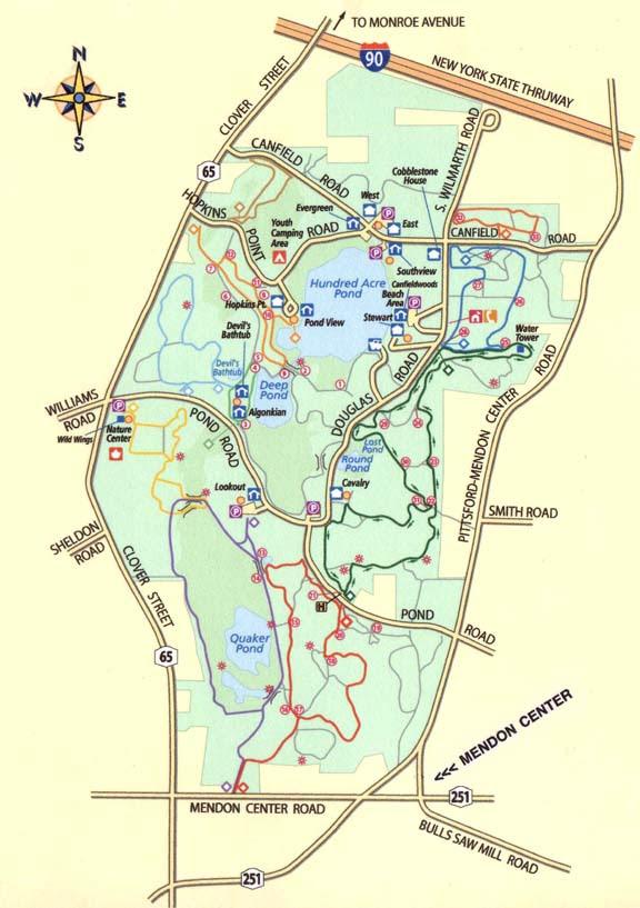 Mendon Ponds Park Map Mendon Ponds Park Map | Color 2018