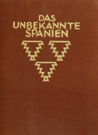 Portada de la edición original de Das Unbekannte Spanien  (La España Incógnita) de Kurt Hielscher de 1922