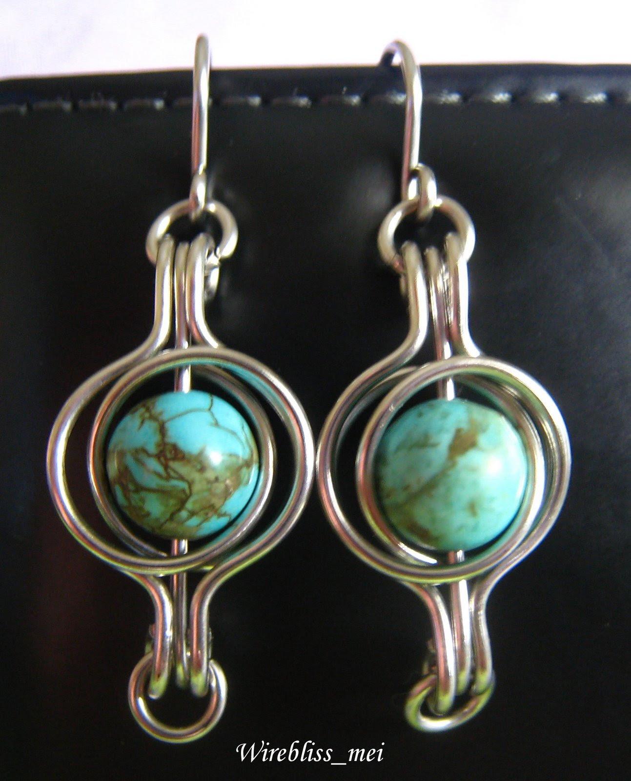 twice around the world (TAW) wire wrap earrings