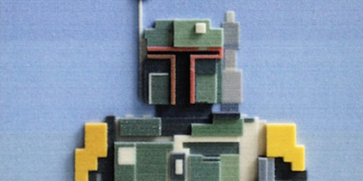Ron Burgundy and Boba Fett, Rendered in 3-D Printed Pixels | Underwire | WIRED
