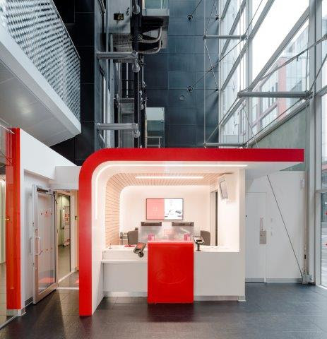 Santander UK capitalises on DuPont Corian high-tech surface