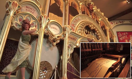 Century-old fairground organ belts out Queen's Bohemian Rhapsody