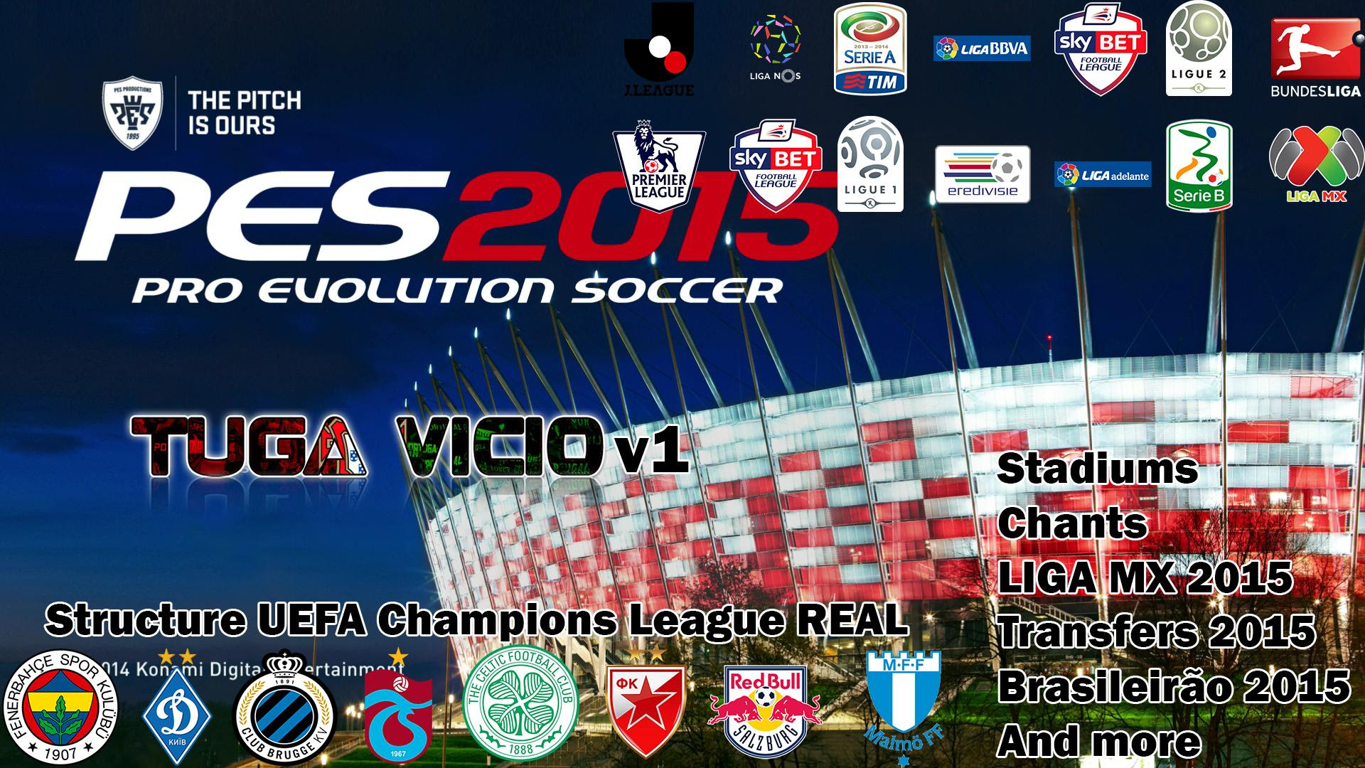 PES 2015 PC Patch Tuga Vicio v1.1.1 Update Released 21/02/2015