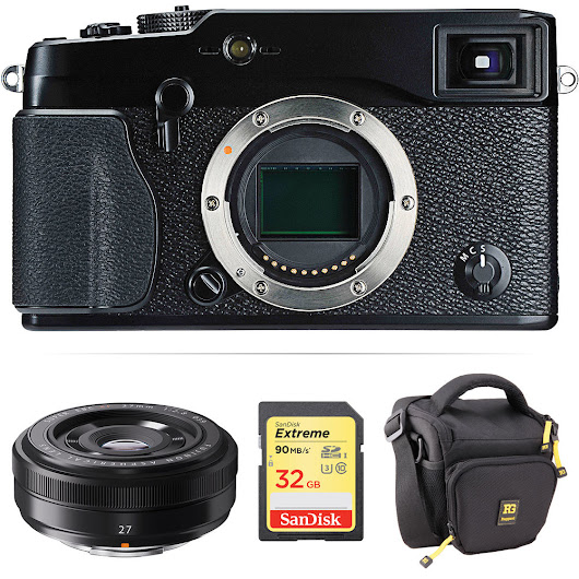 X-Pro1 Mirrorless Digital Camera with 27mm Lens Kit (Black)