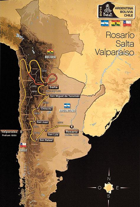 Caravana recorre la ruta del Dakar que pasará por Bolivia