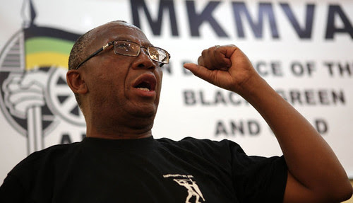 Kebby Maphatsoe of the ANC military wing's veterans' association. He criticized the people who formed South Africa First. by Pan-African News Wire File Photos