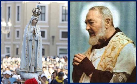 Cathedral hosting devotions for Our Lady of Fatima, Padre Pio