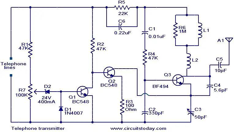 telephone-transmitter-circuit