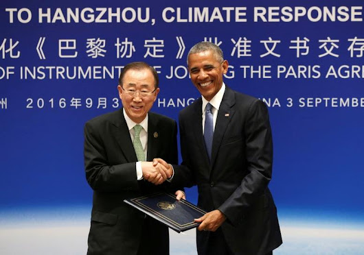 U.S., China ratify Paris climate deal, setting stage for G20