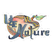 'use Nature Organic Designs with Purpose' Sticker by Giselle Luske