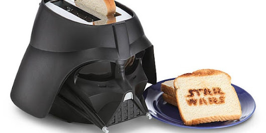 Darth Vader Toaster Burns Star Wars Logo Into Bread