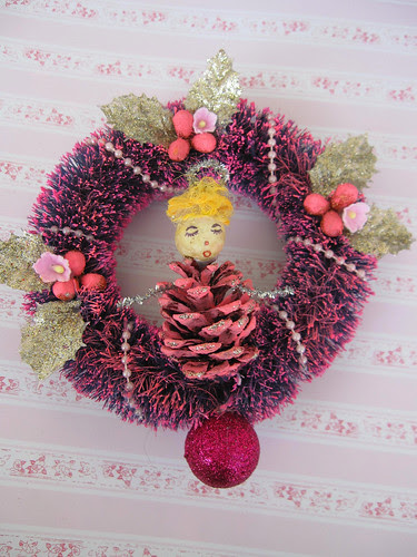 Pink Pinecone Doll Ornament! 3