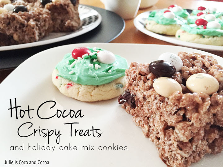 Hot Cocoa Crispy Treats by Julie is Coco and Cocoa