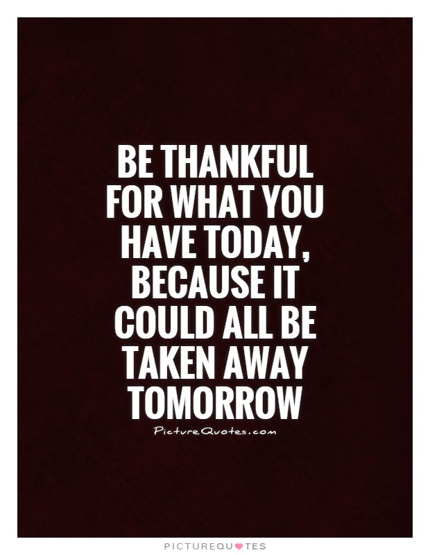 Quotes About Thankful For What You Have 27 Quotes