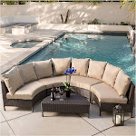 Christopher Knight Home Newton 5-Piece Outdoor Lounge Set with Cushions, Dark Brown/Beige