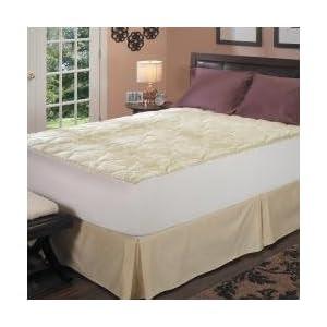 Amazon.com: Latex Foam Core Pillow Top Mattress Pad, Size King ...