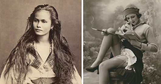Women's Beauty Captured 100 Years Ago In Vintage Postcards From 1900-1910