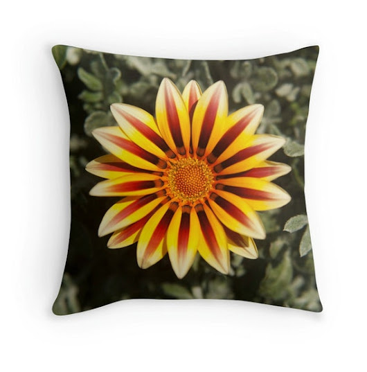 flower pillow home decor functional art by FoxyFunctionalPhoto