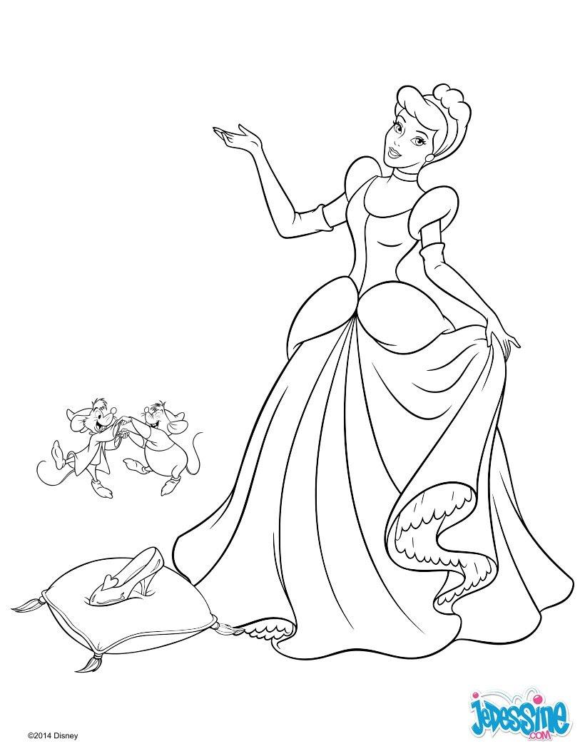 coloriage cendrillon activite princesses disney 6 6ru fr