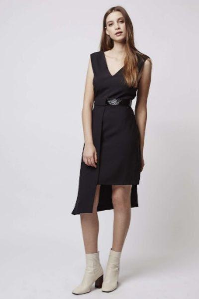 Topshop Asymmetric Hem Dress