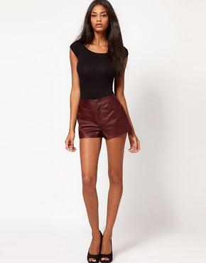 Image 1 ofASOS Leather Shorts