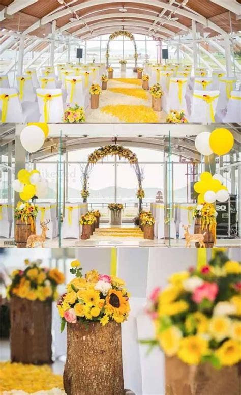 Sunflowers Wedding Party Inspirations   themed wedding