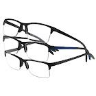 FGX International Inc. Design Optics by Foster Grant Semi-Rimless Plastic Reading Glasses 3-Pack 1.5
