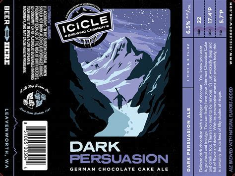 Icicle Brewing Dark Persuasion German Chocolate Cake Ale