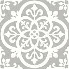 Floorpops 12 in. x 12 in. Medina Peel and Stick Floor Tiles (20 Tiles, 20 Sq. ft.), Grey