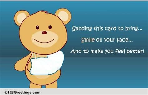 Smile And Feel Better! Free Get Well Soon eCards, Greeting
