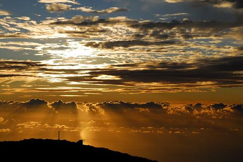 Puesta de Sol desde el Roque de los muchachos