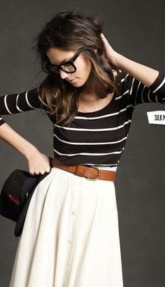 Stripes, i love stripes. and this belt. and this skirt.