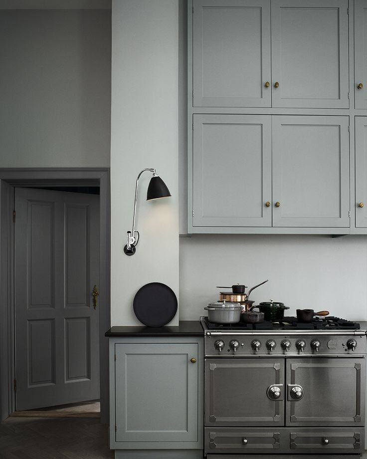 Moody greys. A kitchen perfect for English light?