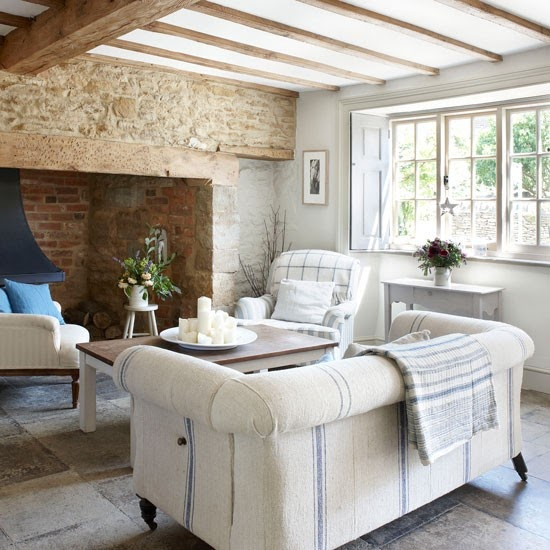 Modern Country Style: Blue And White Colour Scheme
