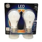 GE Light Bulbs, LED, Soft White, 6 Watts, 2 Pack - 2 bulbs