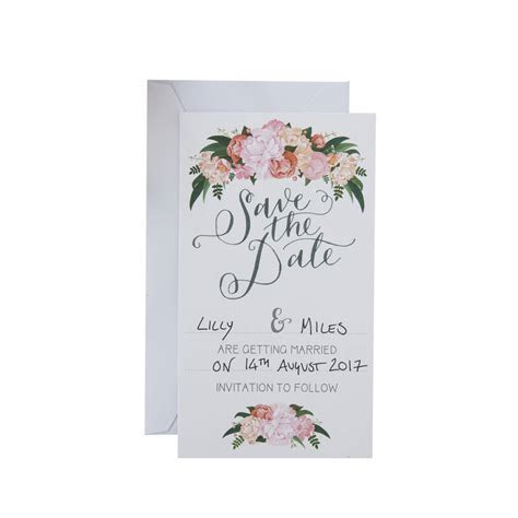 boho floral save the date wedding cards by ginger ray
