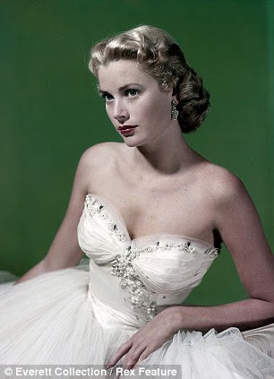 Glamour girls: The likes of Elizabeth Taylor (left) and Grace Kelly helped give the 1950s the reputation for star appeal it has today