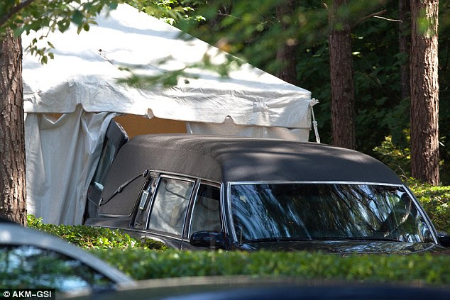 The end? A hearse on Wednesday arrived to the hospice where Bobbi Kristina Brown has been receiving care for the last three weeks